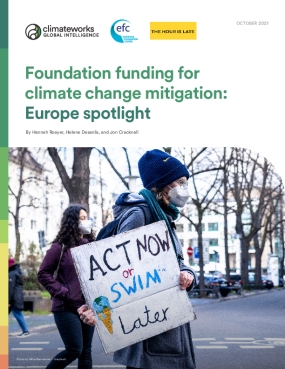 Foundation funding for climate change mitigation: Europe spotlight