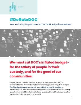 Deflate DOC: New York City Department of Correction by the Numbers