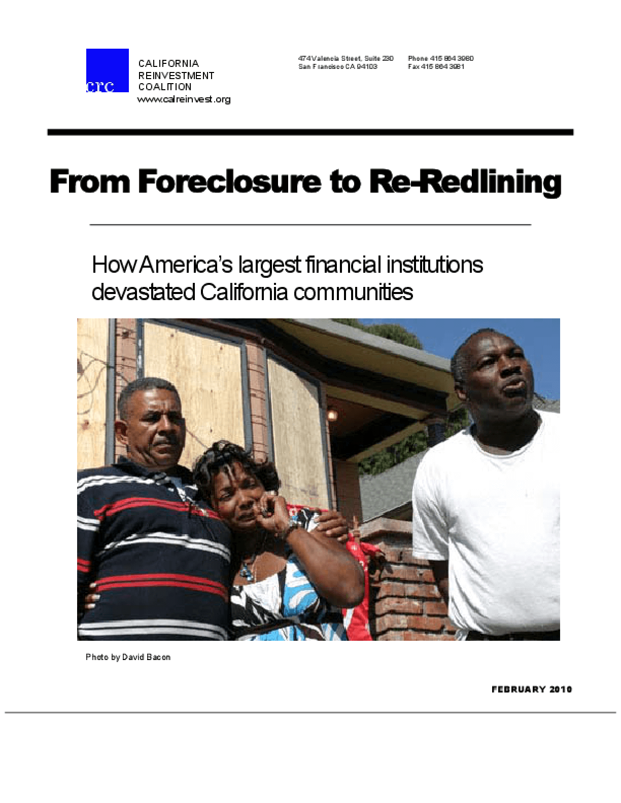 From Foreclosure to Redlining: How America's Largest Financial Institutions Devastated California Communities