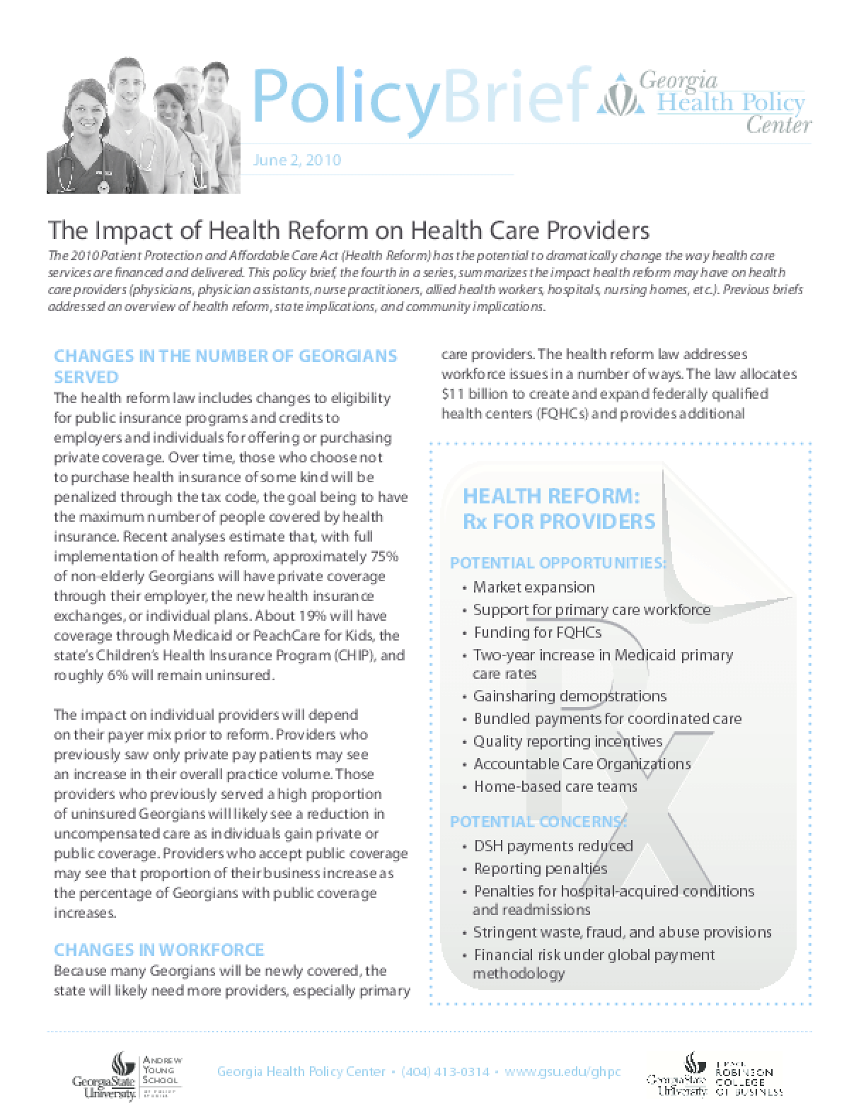The Impact of Health Reform on Health Care Providers