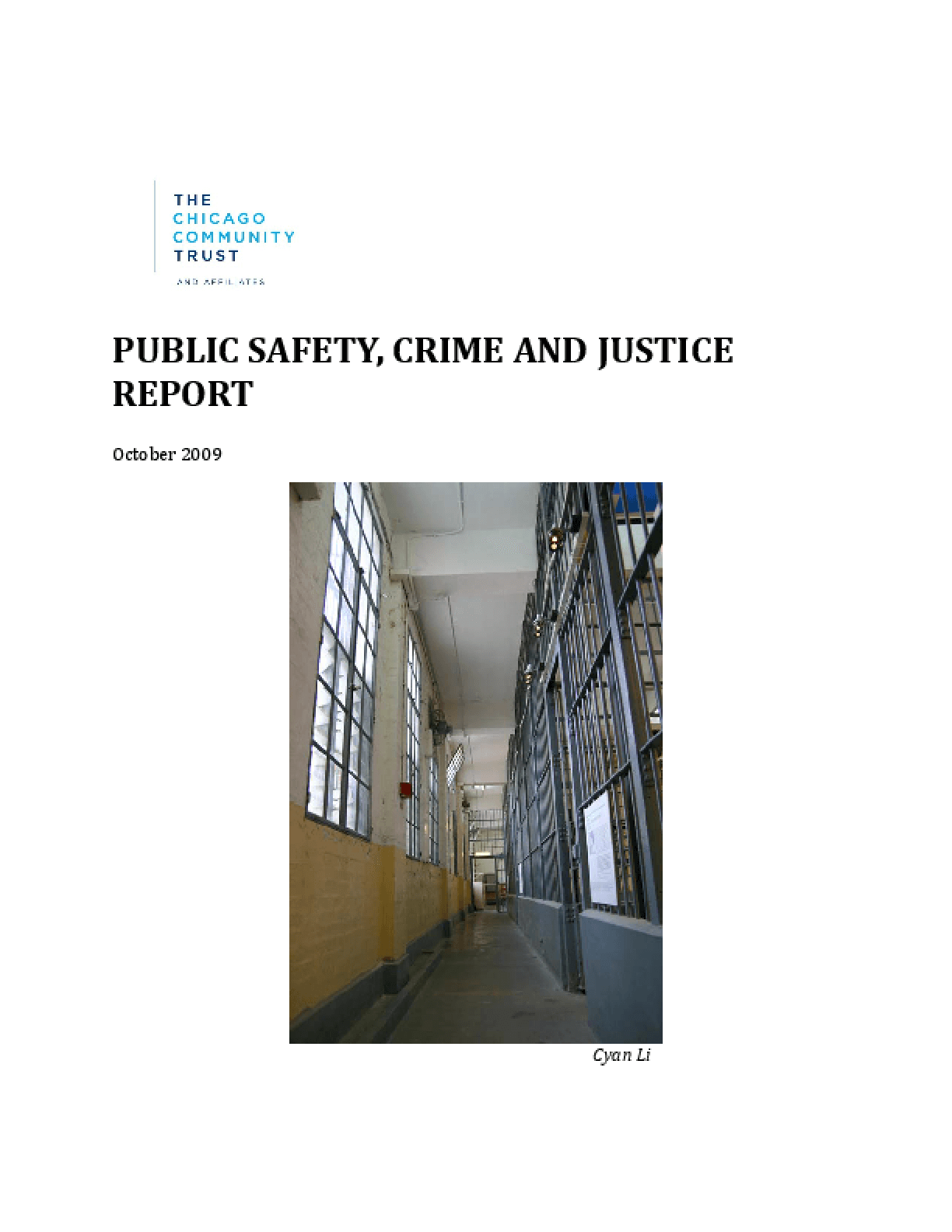 Public Safety, Crime and Justice Report