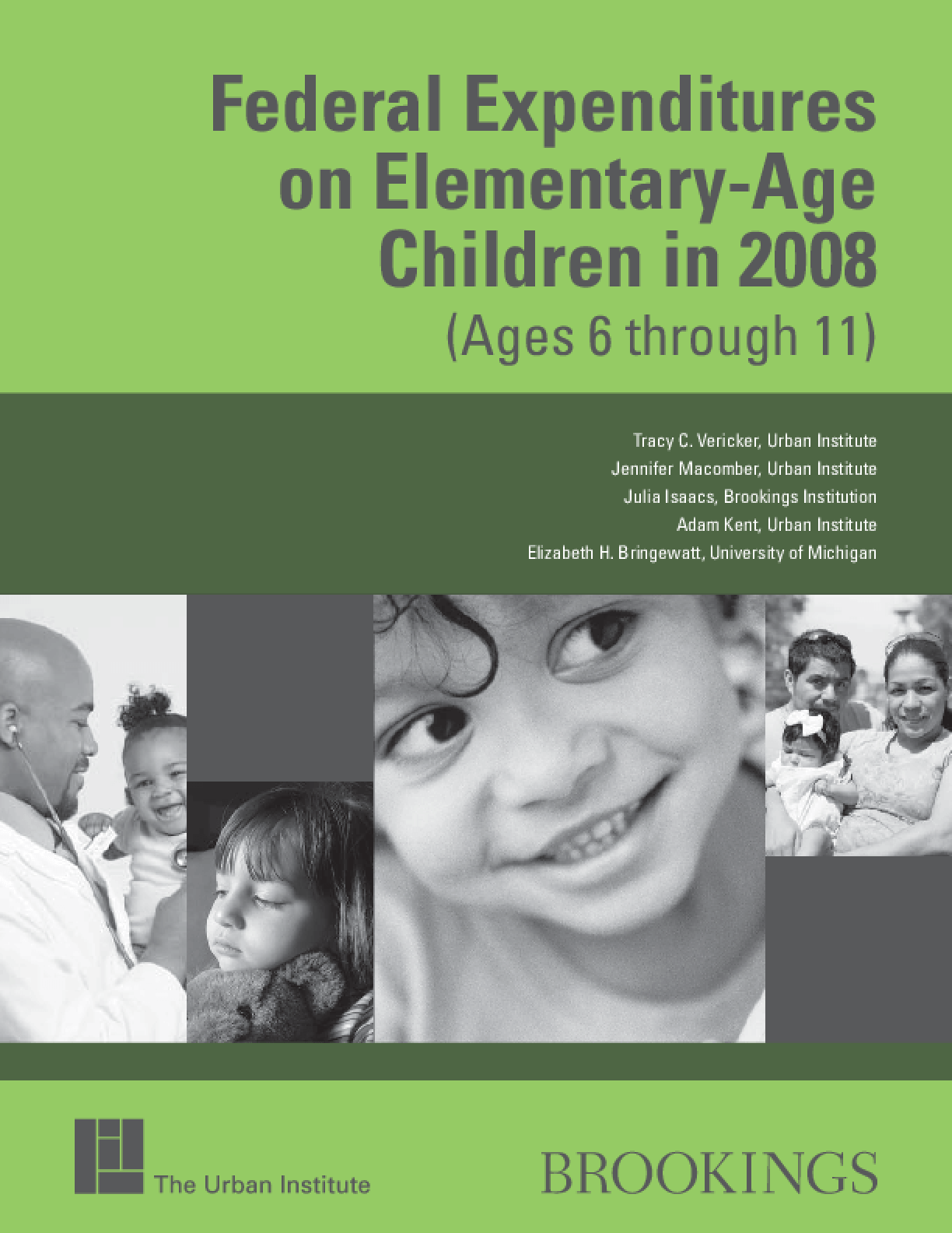 Federal Expenditures on Elementary-Age Children in 2008 (Ages 6 through 11)