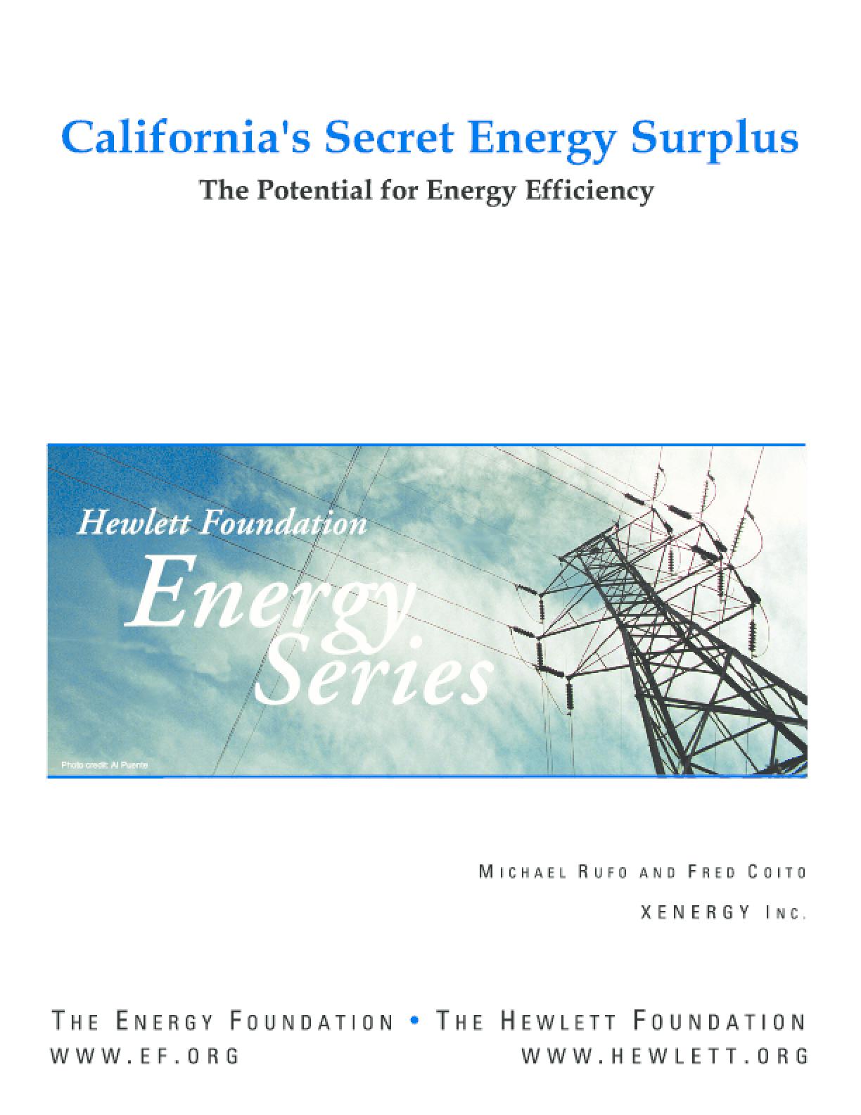 California's Secret Energy Surplus: The Potential for Energy Efficiency