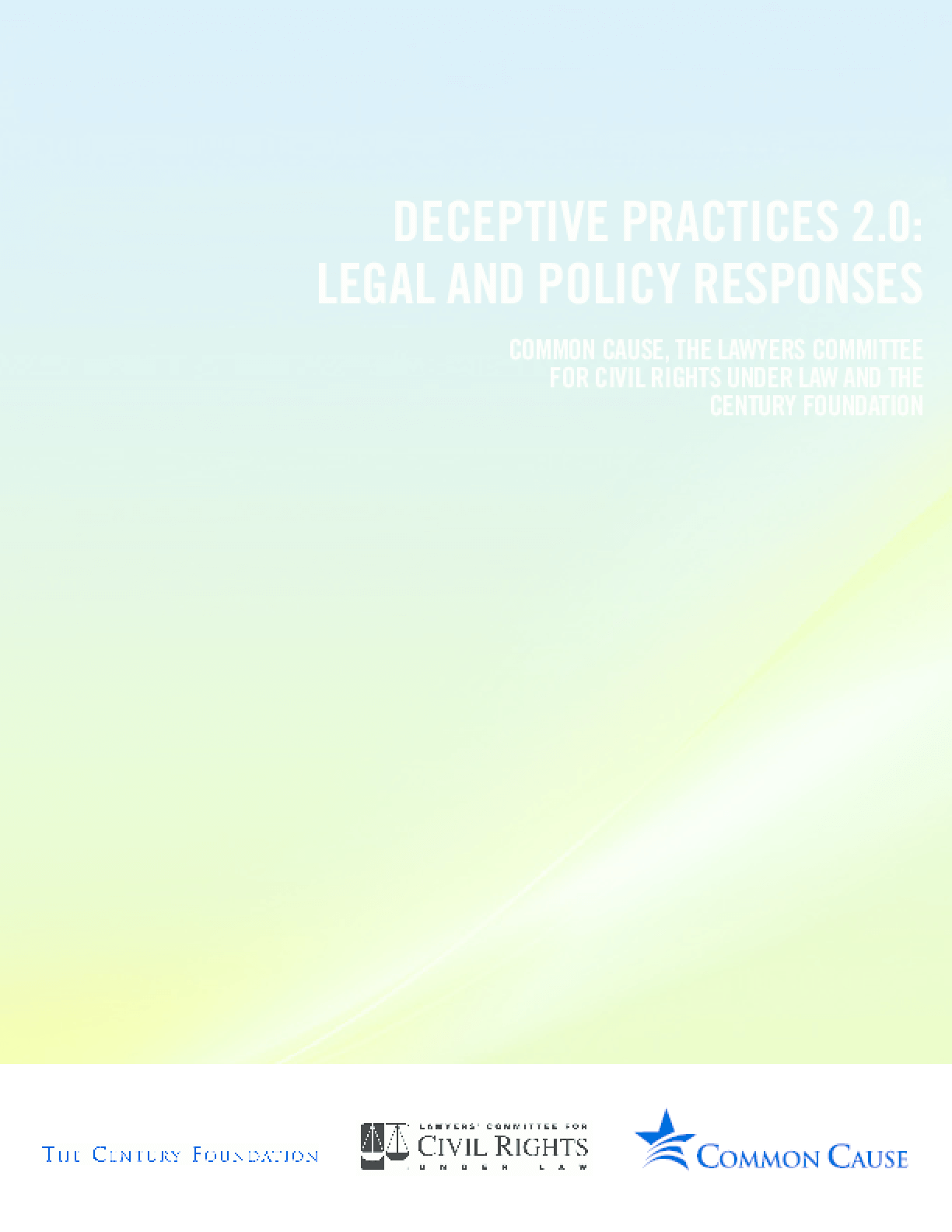 Deceptive Practices 2.0: Legal and Policy Responses